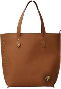 Bolsa Allegra Shopper Elegance Feminina - Feminino-Caramelo