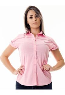 Camisa Pimenta Rosada Pauline - Feminino-Rosa