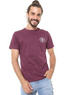 Camiseta Fiveblu Manga Curta Estampada Vinho