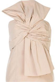 Givenchy Blusa Oversized Com Laço - Neutro