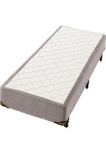 Cama Box Minaspuma Native Visco 0,88X1,88 Cinza