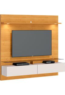 Estante Para Home Theater E Tv Até 60 Polegadas Vidratto Nature E Off White 182 Cm