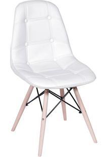 Cadeira Eames Botonãª- Branca & Bege- 83X44X39Cm-Or Design