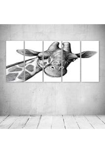 Quadro Decorativo - Girafa - Composto De 5 Quadros