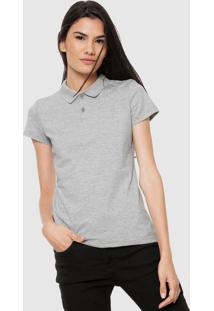 Camisa Polo Malwee Básica Cinza