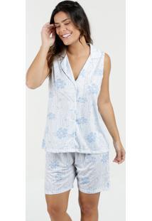 Pijama Feminino Short Doll Estampa Floral Marisa