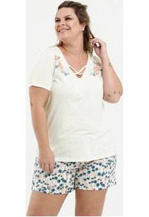 Pijama Feminino Strappy Estampa Floral Plus Size Marisa