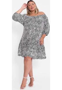 Vestido Almaria Plus Size Tal Qual Curto Ombro A O