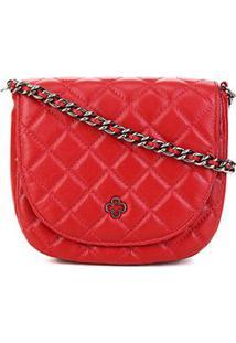 Bolsa Capodarte Vitelo Feminina - Feminino-Vermelho Escuro