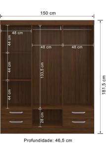 Guarda-Roupa 6 Portas Decibal Rp2640 Cacau Se