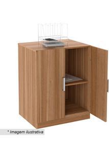 Balcão Para Escritório Office Plus- Castanho- 76,5X6Appunto Móveis