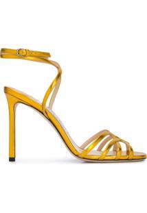 Jimmy Choo Sandália Mimi 100 - Dourado
