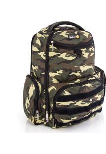 Mochila Maternidade Safety 1St Backpack Delta Green Army Camuflada
