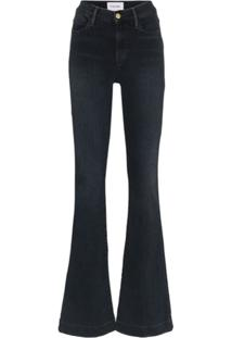 Frame Calça Jeans Flare Le High - Preto