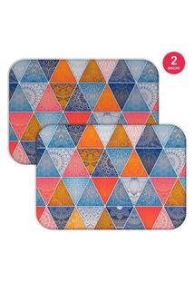 Jogo Americano Love Decor Geometric Abstract Mandalas Colorido
