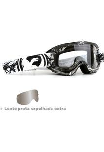 Óculos Tear Off Road Dragon Mdx Scratch Branco