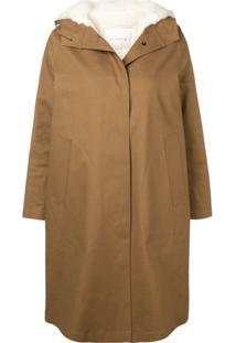 Mackintosh 0001 Trench Coat Com Abotoamento - Marrom