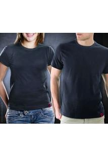 Camiseta Básica Cinza Chumbo - Feminina