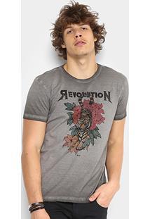 Camiseta Ellus Retrocolor Tiger Revolution Masculina - Masculino