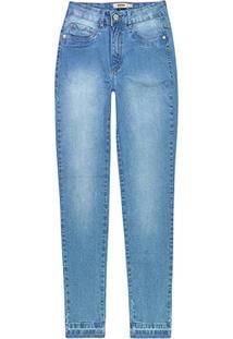 Calça Azul Claro Skinny Em Jeans Stretch
