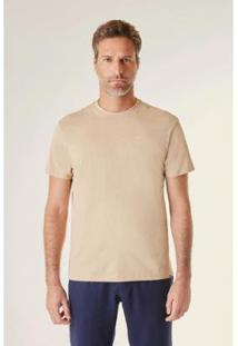 Camiseta Pf Malha Terra Reserva Masculina - Masculino-Bege