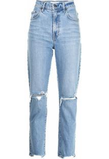 Nobody Denim Calça Jeans Frankie Com Efeito Destroyed - Azul
