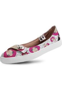 Sapatilha Usthemp Womanly Vegano Casual Art Lolita Pink Branco