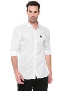 Camisa Mr Kitsch Reta Estampada Branca/Preta