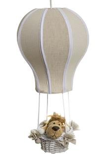 Lustre Balão Cintura Floresta Potinho De Mel Bege