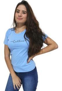 Camiseta Cellos Stretched Premium Feminina - Feminino-Azul Claro