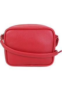 Bolsa Shoestock Transversal Retangular Básica Feminina - Feminino-Vermelho