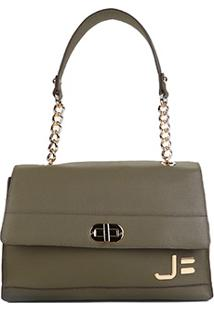 Bolsa Couro Jorge Bischoff Handbag Feminina - Feminino-Verde Militar