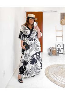 Vestido Almaria Plus Size Miss Taylor Estampado Tr
