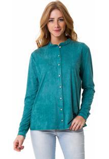 Camisa Angel Manga Longa Verde