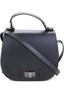 Bolsa Petite Jolie Flap Saddle Bag Feminina - Feminino-Preto