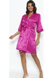 Robe Curto Com Amarração- Pinkfruit De La Passion