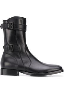 Ann Demeulemeester Ankle Boot Com Fivela - Preto