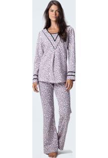 Pijama Joge Longo Moletinho Multicolorido