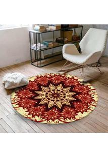 Tapete Love Decor Redondo Wevans Beautiful 84Cm - Vermelho - Dafiti