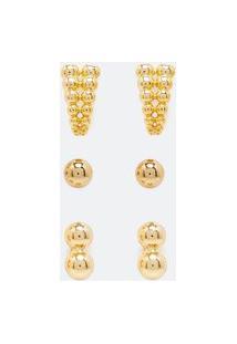 Kit 3 Brincos Em Metal | Accessories | Dourado | U