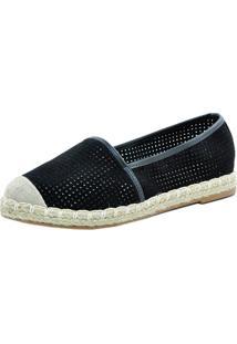 Sapato Casual Alpargata Preto 115 - Preto - Feminino - Dafiti