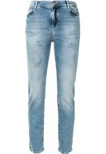 Twinset Calça Jeans Skinny Cintura Alta - Azul