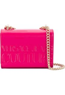 Versace Jeans Couture Bolsa Transversal Com Logo Gravado - Rosa