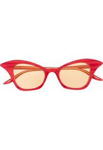 Gucci Eyewear Óculos De Sol Gatinho Gg0707S - Rosa