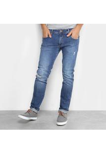 Calça Jeans Slim Forum Estonada Paul Masculino - Masculino-Azul