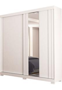 Guarda-Roupa Solteiro Com 2 Portas E Espelho Carmem-Docelar - Branco