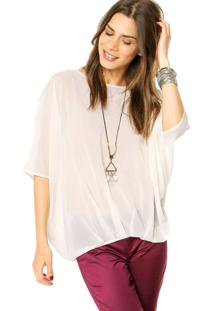 Blusa Benetton Ampla Off White