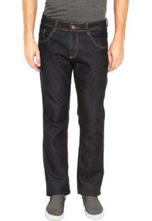 Calça Jeans Biotipo Slim Pespontos Azul