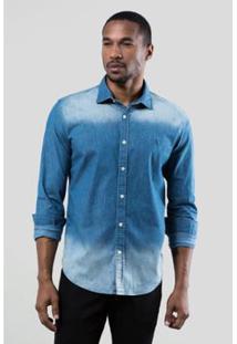 Camisa Jeans Reserva Enxuto Itamaraca Masculina - Masculino