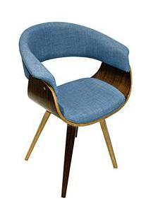 Cadeira 27035 Encosto Vergada Azul Jeans - Fullway